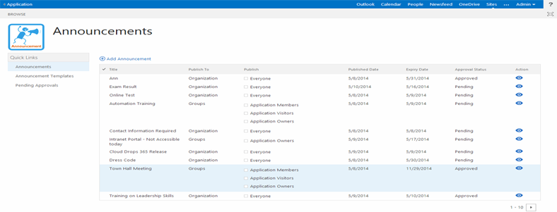 announcement sharepoint online office 365 online products store to